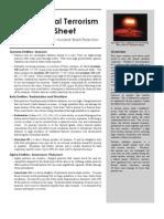 Radiological Terrorism Fact Sheet