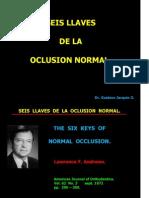 Seis Llaves de La Oclusion Normal.