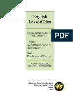 Wanida Rosadika Lesson Plan Recount Ltm