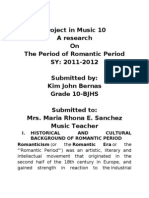 Historical and Cultural Background of Romantic Period