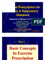 Exercise Prescription for Cardiac & Respiratory Diseases