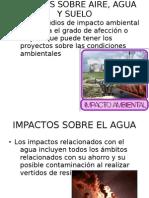 Impactos Sobre Aire, Agua y Suelo