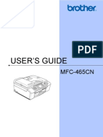 MFC-465cn User's Guide