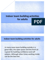 Indoor Team Building Activities for Adults