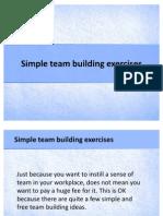 Simple Team Building Exercises