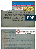 MSME Credit Requirements