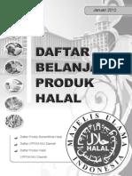 Daftar Produk Halal - Jan 2012