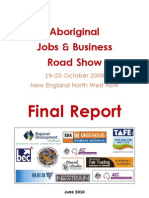 Final Report ~ Aboriginal Employment & Enterprise Roadshow