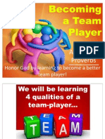A Team Player is T_____________