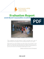 Evaluation Report Final ~ Rural Community Leadership Program