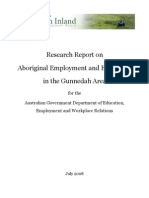 Research Report on Aboriginal Employment and Enterprise in the Gunnedah Area