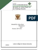 54151323 Internship Report on Askari Bank