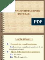 Unidad 6 Las transformaciones  Químicas