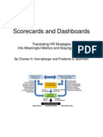 Scorecards and Dashboards