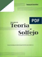 Método de Teoria Musical Elementar e Solfejo - Novo Bona CCB - Revisão Fev 2009