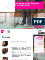 Certitudes et préférences des Français pour l'élection présidentielle 2012
