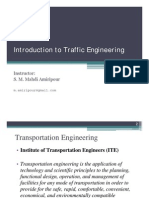 Elements of Traffic Engineering Lecture 1- Introduction to Traffic Engineering