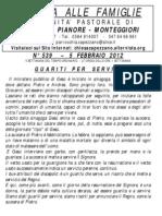 Lettera alle Famiglie - 5 febbraio 2012