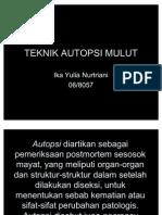 TEKNIK AUTOPSI MULUT