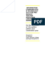 Information Communication Technology (Ict) for Pre-service Teacher Education Libraries in Karnataka