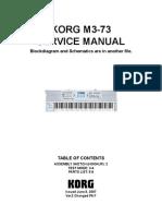Korg M3-73 v2 Service Manual