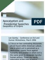 Apocalyptic Presidential Speeches[1]