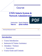 UNIX Solaris System & Network Administrator
