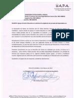 Carta a Consejería Auxiliar AL