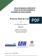 Desarrollo de un sistema de control de la calidad y el proceso de Microsoldaduras realizadas por Láser pulsado