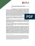 Documento del CELS sobre La Carcova