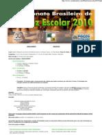 to Brasileiro Escolar 2010 - Folder