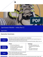 Sportswear Market in India 2011 - Market Size and Growth, Drivers and Challenges