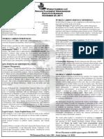 WC Executive Summary PPM 2011-11-23