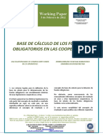 BASE DE CALCULO DE FONDOS OBLIGATORIOS EN LAS COOPERATIVAS (Es) CALCULATION BASE OF COMPULSORY FUNDS IN CO-OPERATIVES (Es) KOOPERATIBEN DERRIGORREZKO FUNTSAK ZENBATZEKO OINARRIA (Es)