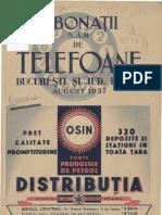 Abonatii de Telefoane Din Bucuresti 1937
