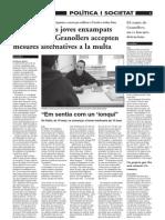 Reportatge a El9Nou sobre Mesures educatives alternatives a adolescents - 31 de desembre de 2009