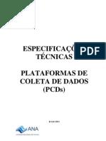 Especificacoes Tecnicas as de Coletas de Dados