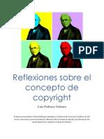 Reflexiones sobre el concepto de copyright