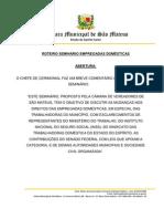 ROTEIRO SEMINÁRIO DOMÉSTICAS
