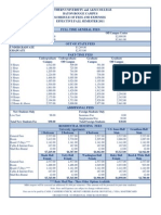 2011 Fall Student Fee Schedule