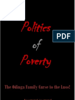 Politics of Poverty - The Odinga Family Curse to the Luos!