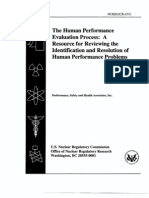 The Human Performance Evaluation Process