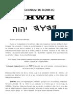 El Shem Kadosh de Elohim Es[1]