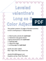 Leveled Valentine's Long Ea and Color Adjectives