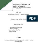 Proceso Del Pan Molde