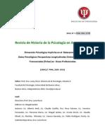 Dimension Psicologica Implicita en El Relevamiento de Datos Psicologicos Perspectivas Longitudinales y Transversales en Areas Profesionales
