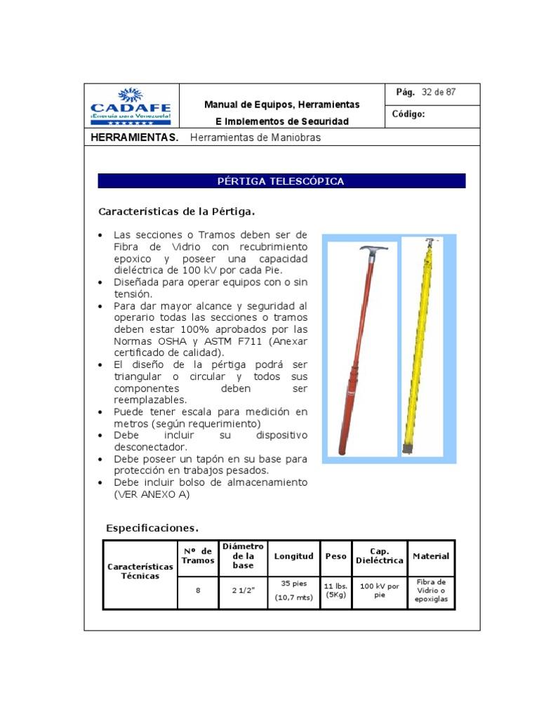 Manual de Equipos Herramientas e Implementos de Seguridad Para Redes ...