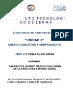 Costos Conjuntos y Sub Productos
