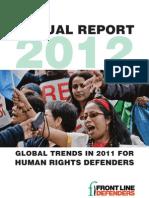 Informe Anual 2012 sobre los/las defensores/as de los derechos humanos
