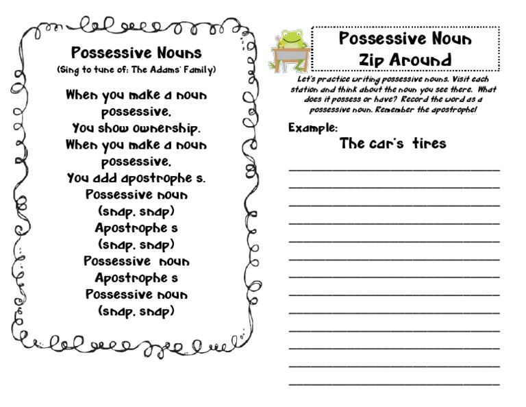 Possessive Nouns Song